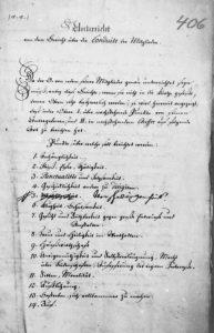 Anleitung für das Verfassen von Illuminatischen Provinz und Inspektionsberichten, SK15-406
